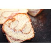 Brioche slice with cinnamon